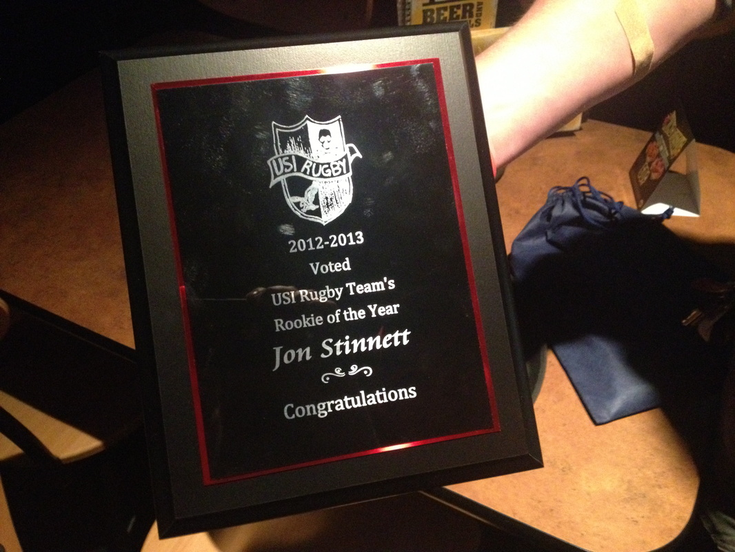 Jon Stinnett - Rookie of the Year 2012-2013